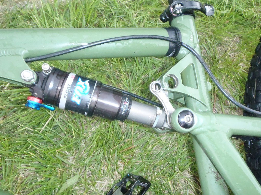 Sykkel med manglende del