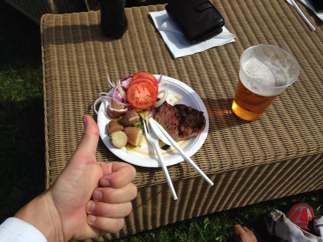 Koteletter og sportsdrikk på Tørvis etter løpet